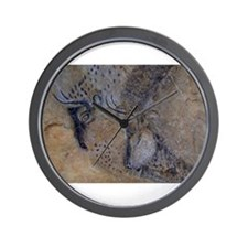 french pyrenees cave paintings Wall Clock