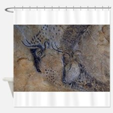 french pyrenees cave paintings Shower Curtain