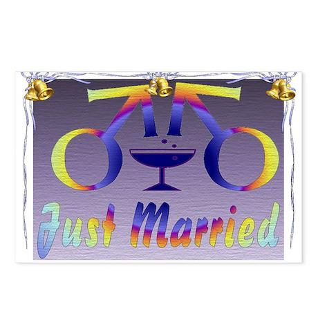 Just Married Men Postcards (Package of 8)