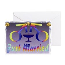 Just Married Men Greeting Cards (Pk of 20)