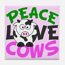 Love Cows Tile Coaster