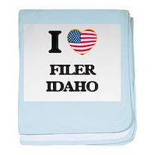 I love Filer Idaho baby blanket