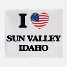 I love Sun Valley Idaho Throw Blanket