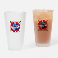 Coast Guard Wheel Drinking Glass