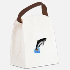 King Salmon Canvas Lunch Bag