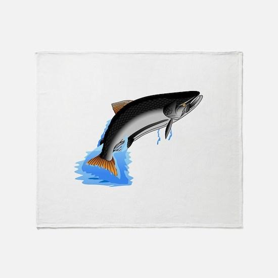 King Salmon Throw Blanket