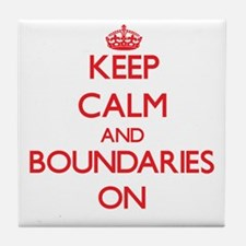 Keep Calm and Boundaries ON Tile Coaster