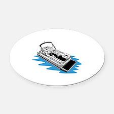 Pontoon Oval Car Magnet