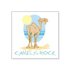 "Camels Rock Square Sticker 3"" x 3"""