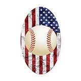 Baseball Oval Car Magnets