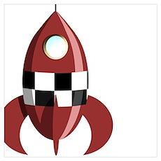 Moon Rocket Poster