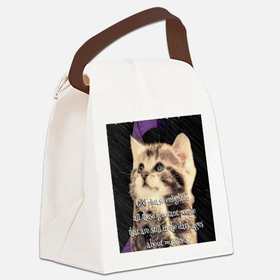 Praying Kitty  Canvas Lunch Bag