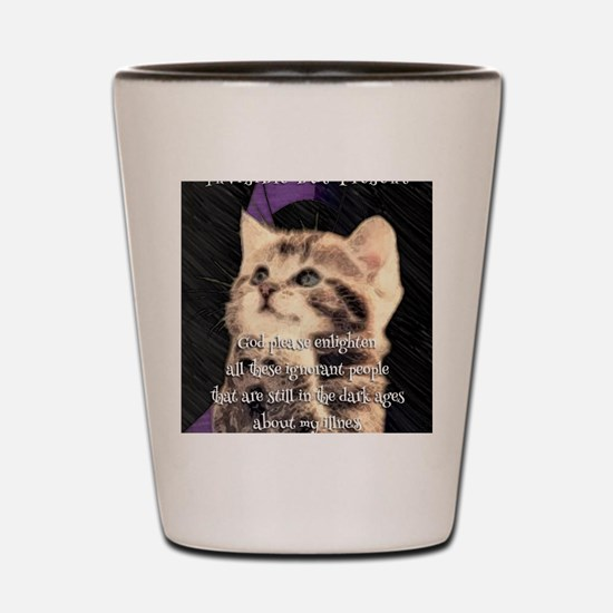 Praying Kitty  Shot Glass