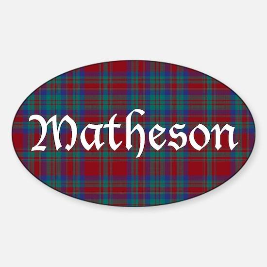 Tartan-Matheson dress Sticker (Oval)
