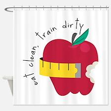 Eat Clean Shower Curtain
