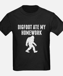 Bigfoot Ate My Homework (Distressed) T-Shirt