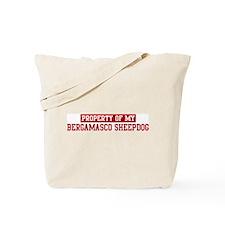 Property of Bergamasco Sheepd Tote Bag
