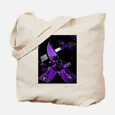 Cute Domestic awareness purple butterfly Tote Bag