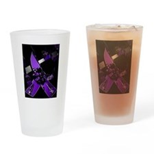 Funny Lupus awareness butterfly Drinking Glass