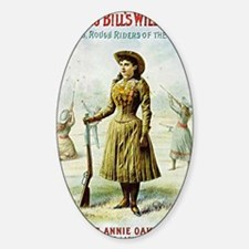 Annie Oakley Sticker (Oval)