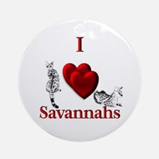I Heart Savannahs Ornament (Round)