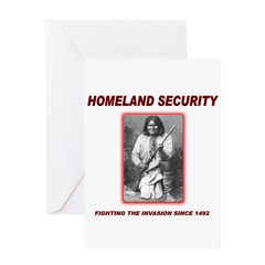 Homeland Security Geronimo Greeting Card