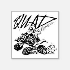 """QUAD 4x4 Off Road Edition Square Sticker 3"""" x 3"""""""