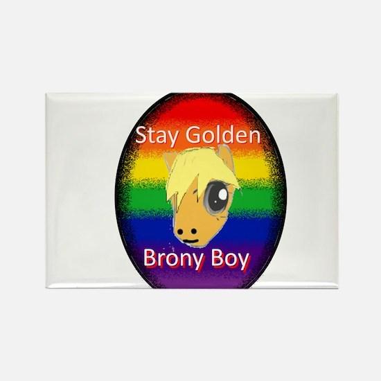 Stay Golden Brony Boy Magnets