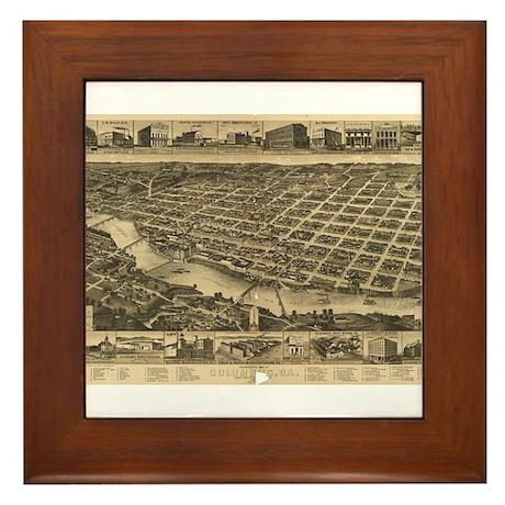 Columbus, Ga antique map Framed Tile