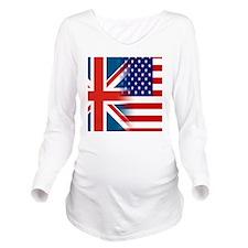 USA/UK Long Sleeve Maternity T-Shirt