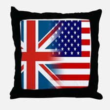 USA/UK Throw Pillow
