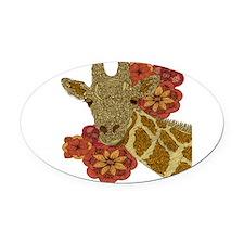 Jewel Giraffe Oval Car Magnet