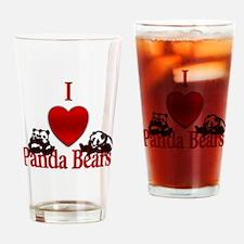 I Heart Panda Bears Drinking Glass