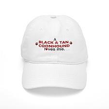 A Black & Tan Coonhound Loves Me Baseball Cap