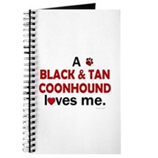 A Black & Tan Coonhound Loves Me Journal