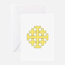 Jerusalem Cross Greeting Cards