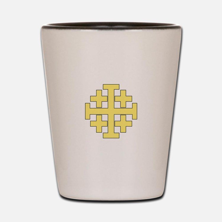 Jerusalem Cross Shot Glass