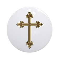 Ornamental Cross Ornament (Round)