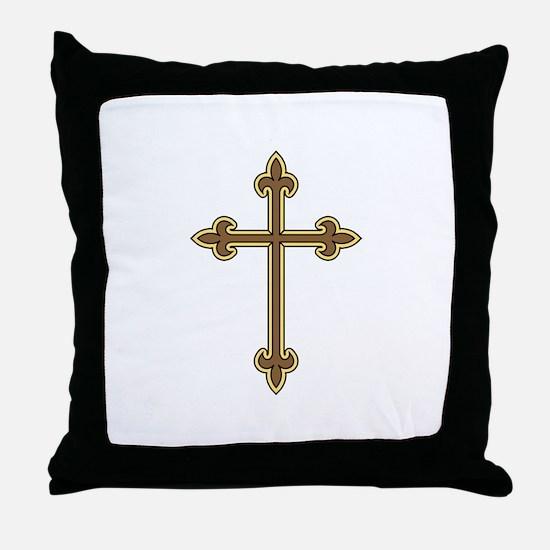 Ornamental Cross Throw Pillow