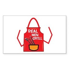 Real Men Grill Decal