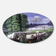 Wagon Train Sticker (Oval)