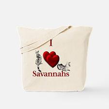 I Heart Savannahs Tote Bag