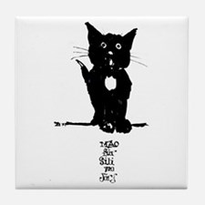 Cat by Doeberl Tile Coaster