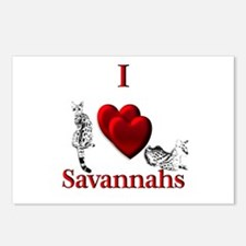I Heart Savannahs Postcards (Package of 8)