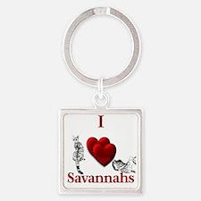 I Heart Savannahs Keychains