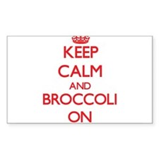 Keep Calm and Broccoli ON Decal