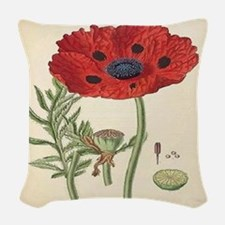 Poppy Woven Throw Pillow