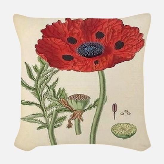 Poppy Woven Throw Pillow