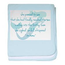 Mermaid Watercolor baby blanket
