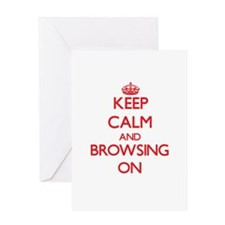 Keep Calm and Browsing ON Greeting Cards
